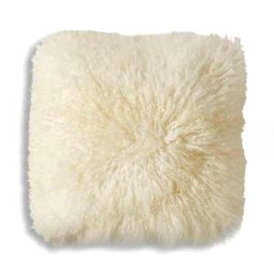 "Other - Super cute 18"" faux Mongolian Sheep Fur Pillow!"